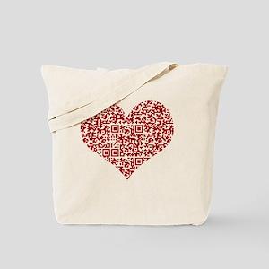 I Love You! I love you! I love you! QR Co Tote Bag