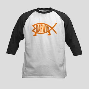 Original Darwin Fish (Light Orange Baseball Jersey