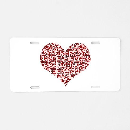 I Love You! I love you! I l Aluminum License Plate