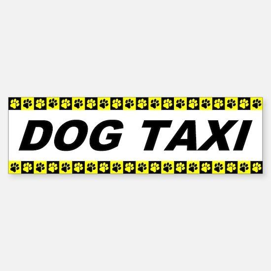 Dog Taxi Bumper Bumper Bumper Sticker