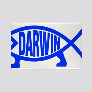 Original Darwin Fish (Royal Blue) Magnets
