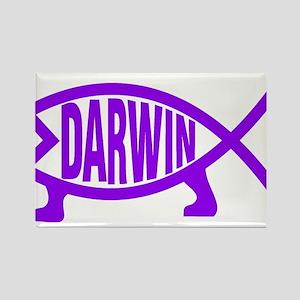 Original Darwin Fish (Purple) Magnets