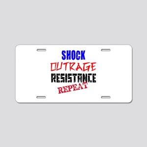 Shock Outrage Resistance Repeat Aluminum License P