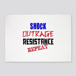 Shock Outrage Resistance Repeat 5'x7'Area Rug