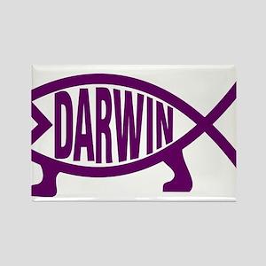 Original Darwin Fish (Violet) Magnets