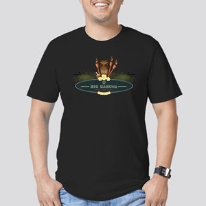 Big Kahuna Tiki Men's Fitted T-Shirt (dark)