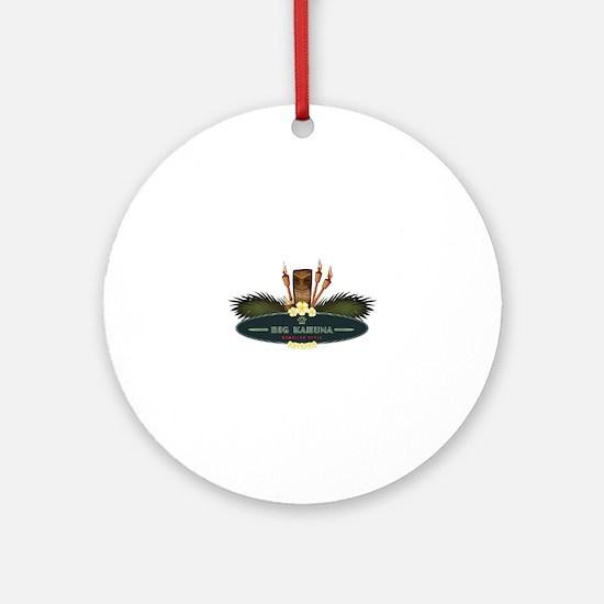 Big Kahuna Tiki Round Ornament
