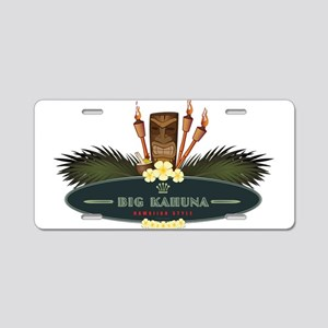 Big Kahuna Tiki Aluminum License Plate