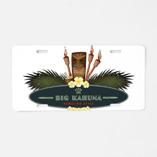 Big Kahuna Tiki Aluminum License Plate