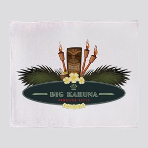 Big Kahuna Tiki Throw Blanket