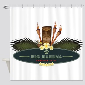 Big Kahuna Tiki Shower Curtain