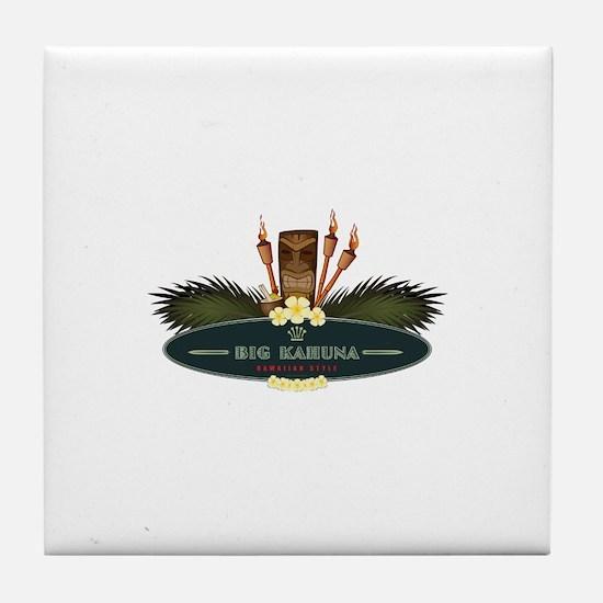 Big Kahuna Tiki Tile Coaster