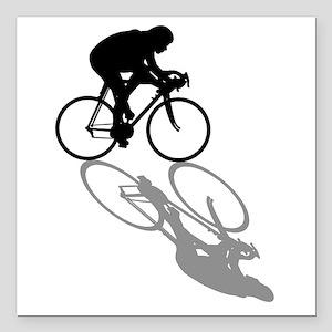 "Cycling Bike Square Car Magnet 3"" X 3"""