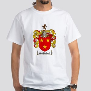 Sutherland Coat of Arms White T-Shirt