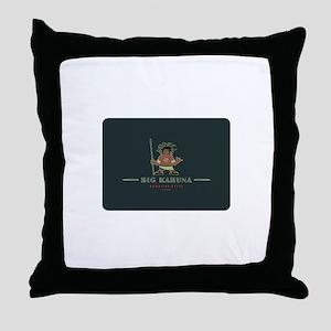Big Kahuna with Figure Throw Pillow