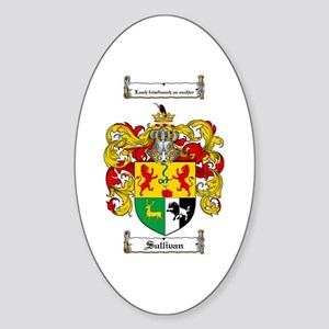 Sullivan Coat of Arms Oval Sticker