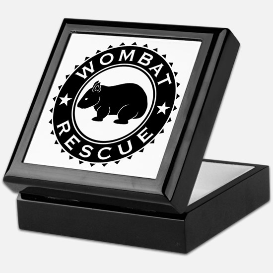 Wombat Rescue B&W Crest Keepsake Box