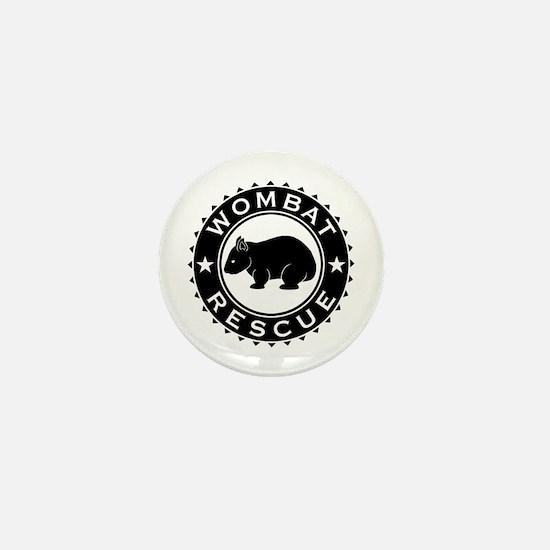 Wombat Rescue B&W Crest Mini Button