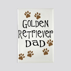 Golden Retriever Dad Rectangle Magnet