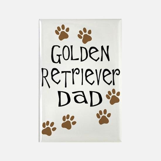 Golden Retriever Dad Rectangle Magnet