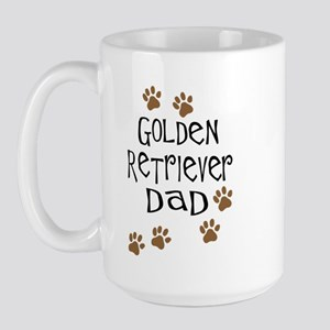 Golden Retriever Dad Large Mug