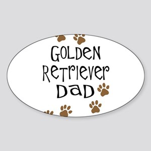 Golden Retriever Dad Sticker (Oval)
