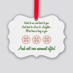 HERE'S TO ME... Picture Ornament