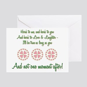 HERE'S TO ME... Greeting Card