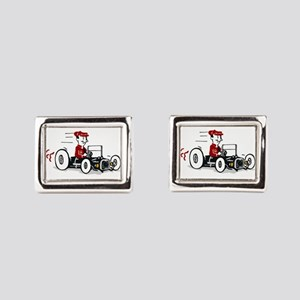 Hot Rod Cartoon Design Rectangular Cufflinks