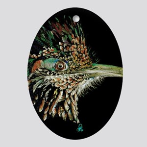 Greater Roadrunner Oval Ornament