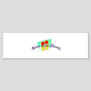 Reina de la Chancla Bumper Sticker