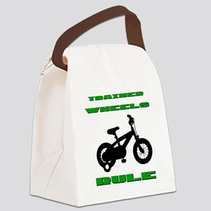Trainer Wheels Rule Canvas Lunch Bag