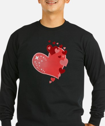 Valentines Day Hearts Long Sleeve T-Shirt