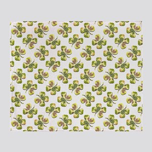 FOUR LEAF CLOVERS Throw Blanket