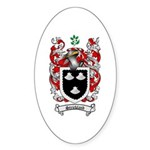 Strickland Coat of Arms Oval Sticker