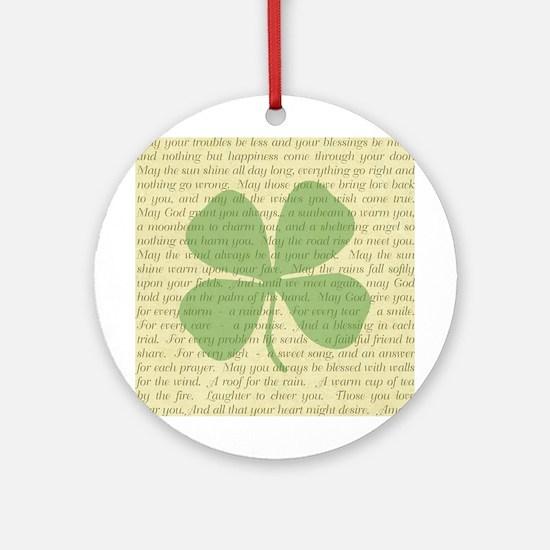 IRISH PRAYER Round Ornament