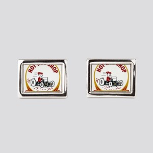 Hot Rod Shop Rectangular Cufflinks
