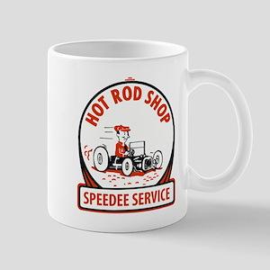 Hot Rod Shop Cartoon Mugs