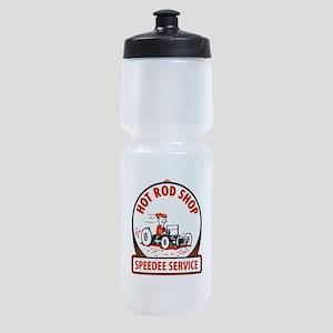 Hot Rod Shop Cartoon Sports Bottle