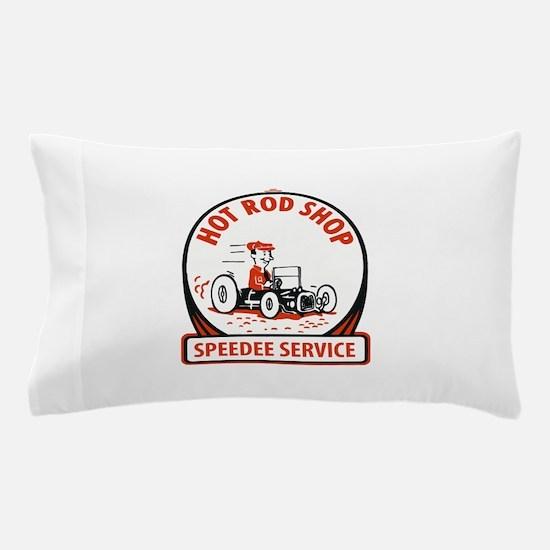 Hot Rod Shop Cartoon Pillow Case