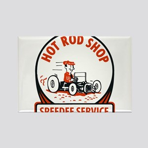 Hot Rod Shop Cartoon Magnets