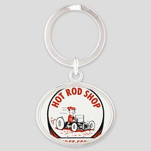 Hot Rod Shop Cartoon Keychains