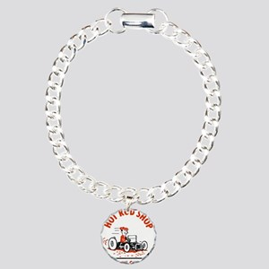 Hot Rod Shop Cartoon Charm Bracelet, One Charm