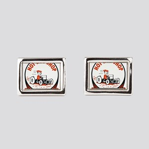 Hot Rod Shop Cartoon Rectangular Cufflinks