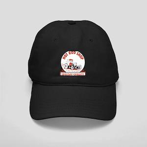 Hot Rod Shop Cartoon Black Cap