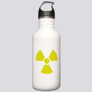 Radiation warning sign Stainless Water Bottle 1.0L