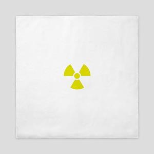 Radiation warning sign Queen Duvet
