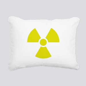 Radiation warning sign Rectangular Canvas Pillow
