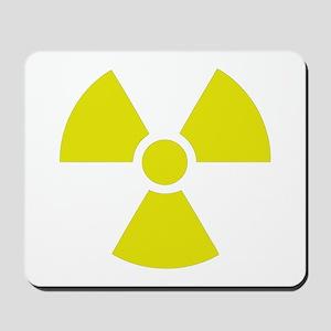 Radiation warning sign Mousepad