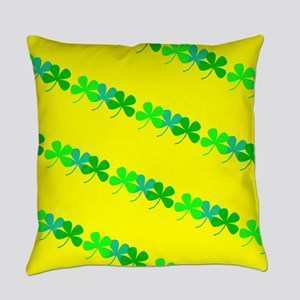 4 Leaf Clovers St. Patricks Day 4M Everyday Pillow